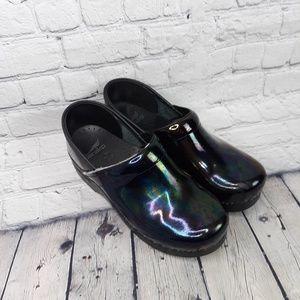 Dansko Metallic Rainbow Clogs Size 38/8
